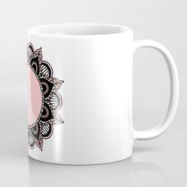 Mandala: Pink and Black Coffee Mug