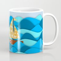 adventure Mugs featuring Adventure by General Design Studio