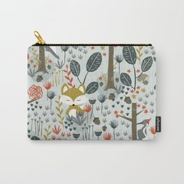 Rustic  Woodland Animals Carry-All Pouch