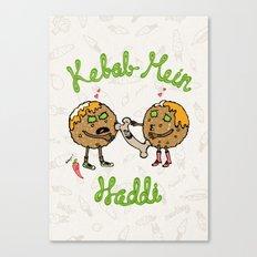 Kebab Mein Haddi Canvas Print