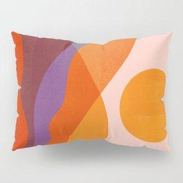 Abstraction_Mountains_SUN_Beautiful_Day_Minimalism_001 Pillow Sham