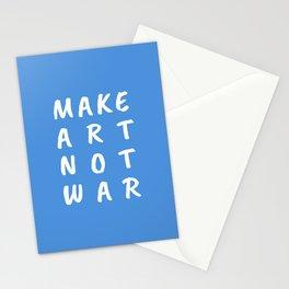 Make Art Not War (Blue) Stationery Cards