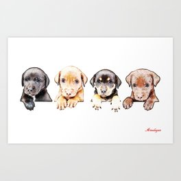 cachorros ( puppies  ) Art Print