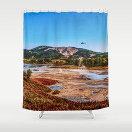 Bear Resort: Caldera Uzon Shower Curtain