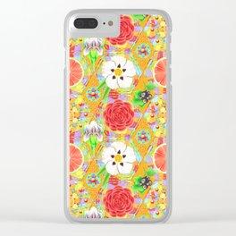 4160 Tuesdays Rainbow Botanicals Clear iPhone Case