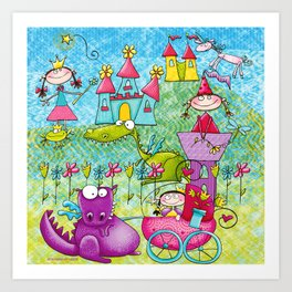 Fairy Princess Kingdom Art Print