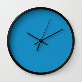 Cyan Cornflower Blue - solid color Wall Clock