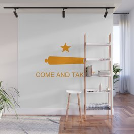 Texas Come and Take It Flag - Orange Wall Mural