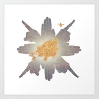 compass Art Prints featuring Compass by Rhea Ewing