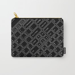 Keyboarded BLACK Carry-All Pouch