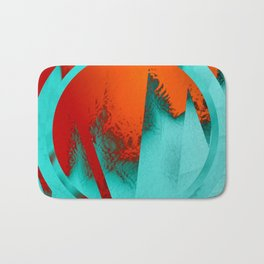 ice and fire Bath Mat