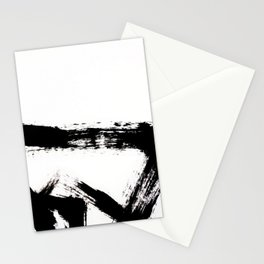 Brushstroke [8] - a simple, abstract, black and white india ink piece Stationery Cards