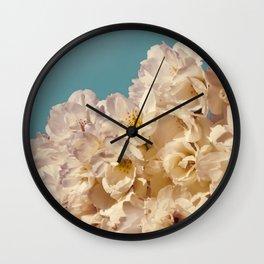 Vintage Aqua Sakura Wall Clock