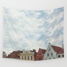 Pastel Houses Wall Tapestry