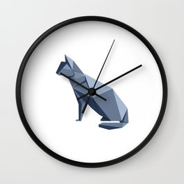 Origami Cat Wall Clock