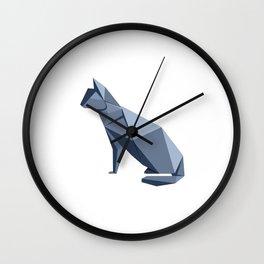 Origami Cat Wall Clock