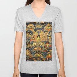 Mandala Buddhist 7 Unisex V-Neck