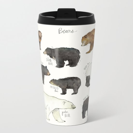 Bears Metal Travel Mug