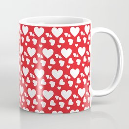 Red and White Hearts Seamless Pattern 107 Coffee Mug