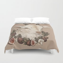 Goat and Figs Duvet Cover