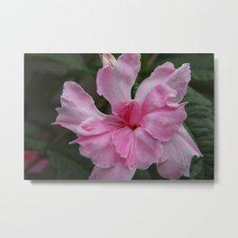 Pink Floral Metal Print