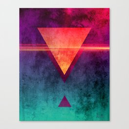 Triangle Triad [Neon Gloom Variant] Canvas Print