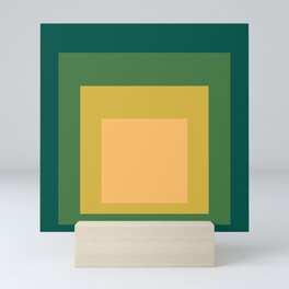 Block Colors - Green Yellow Cream Mini Art Print