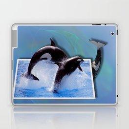 Leaping Orcas Laptop & iPad Skin