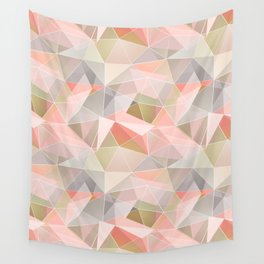 Broken glass in warm colors. Wall Tapestry