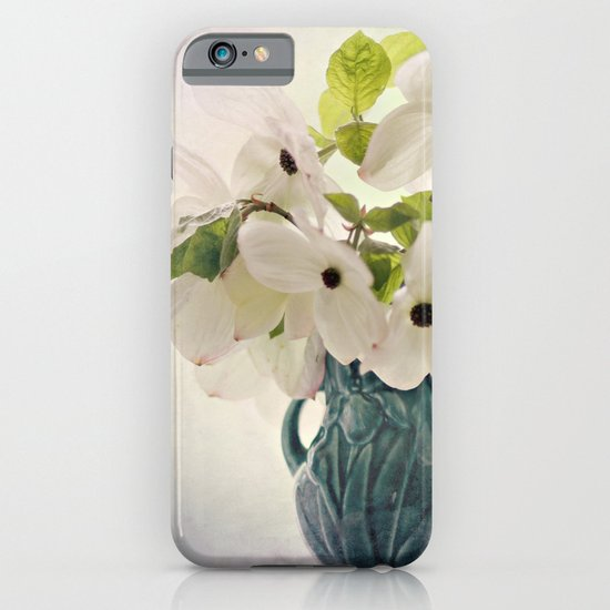 dogwoods in vintage vase iPhone & iPod Case