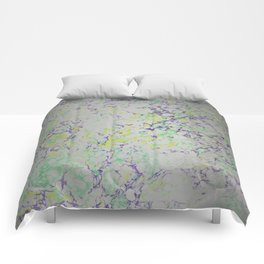 Easter Composition Water Marbling Comforters