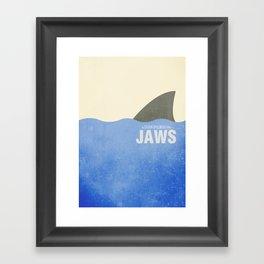 Jaws - Minimal Framed Art Print