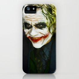 The Joker (TDK) Digital Painting  iPhone Case