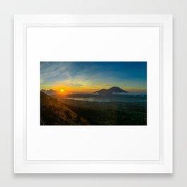 Sunrise at Mount Batur Framed Art Print