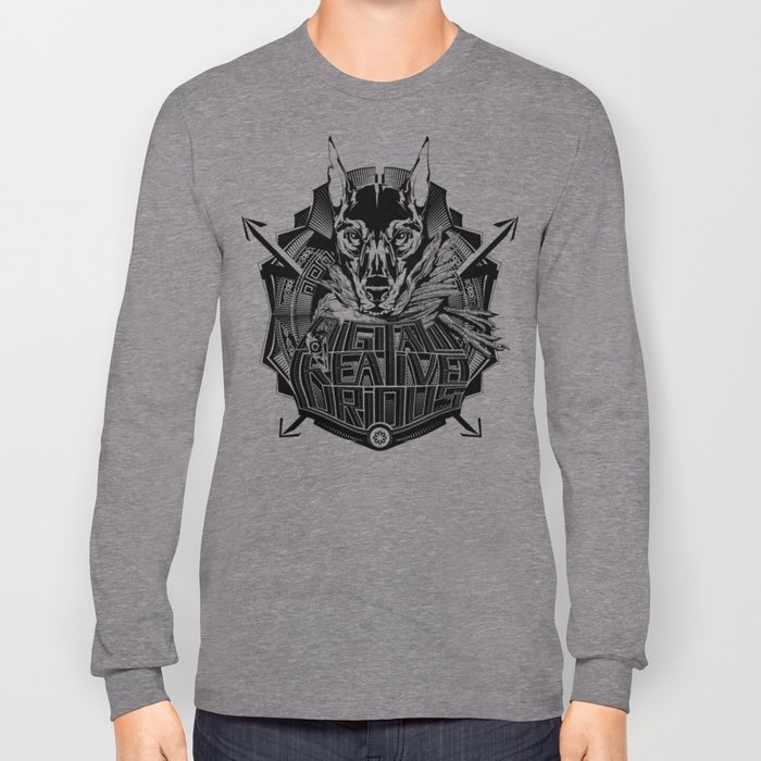 Digital Creative Curious by Vegas Long Sleeve T-shirt