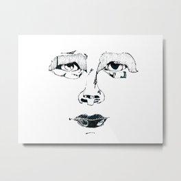 Face Unfortunate Metal Print