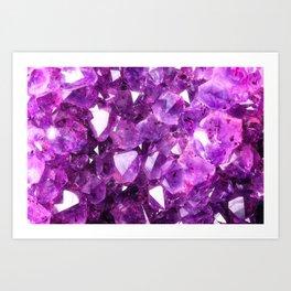 Purple Amethyst Art Print