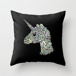 Pastel Unicorn Throw Pillow