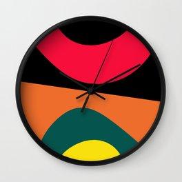 Color circles Wall Clock