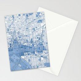 Washington DC Map Stationery Cards