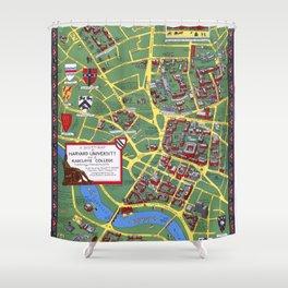 HARVARD University map CAMBRIDGE Shower Curtain
