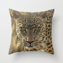 Leopard - On the Prowl Throw Pillow