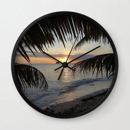 Caribbean Sunrise Wall Clock