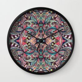 Drawing Floral Zentangle G237 Wall Clock