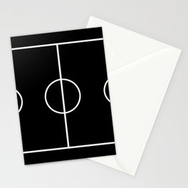 Soccer field / Football field in Black and White Stationery Cards