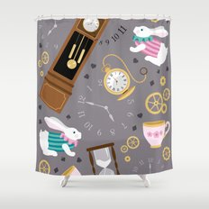 Late For The Party Shower Curtain