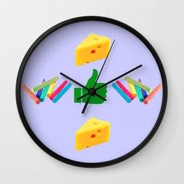Like Chalk and Cheese Wall Clock