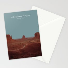 Monument Valley, USA Travel Artwork Stationery Cards