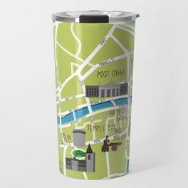 Dublin map illustrated Travel Mug