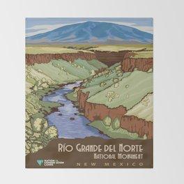 Vintage poster - Rio Grande Del Norte Throw Blanket
